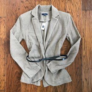 NWT GAP Beige Belted Knit Blazer